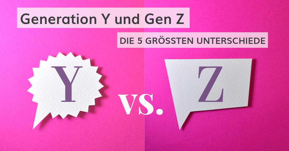 Die 5 größten Unterschiede zwischen Generation Y und Gen Z